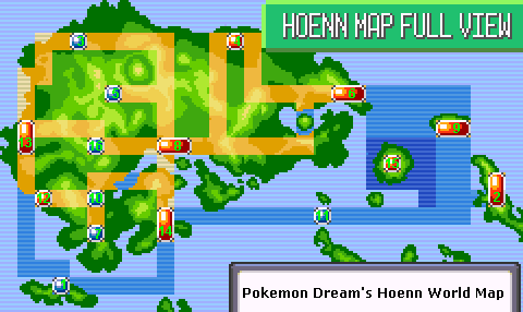 Ruby/Sapphire   World Map   PokeDream